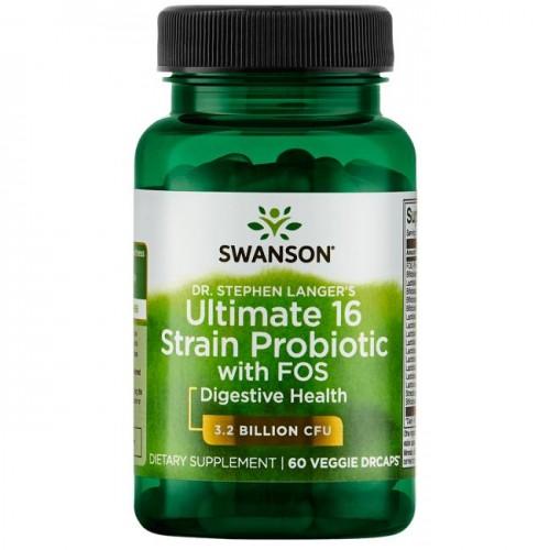 Swanson Ultimate 16 Probiotic 60 cápsulas