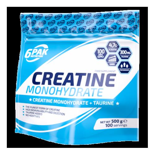 6Pak Nutrition - Creatine Monohydrate (creatina monohidrato) - 500 gr.