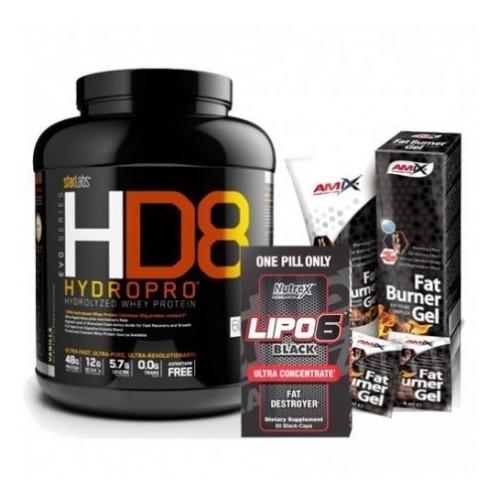 Pack verano: proteína hidrolizada + quemador de grasa + crema reductora