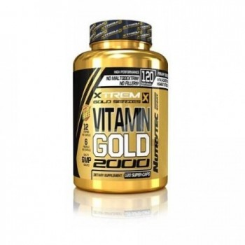 Xtreme Gold Series - Vitamin Gold Xtrem, 120 caps 1000 mg con BetaCaroteno